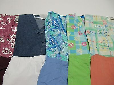 Womans Lot Of Scrub Sets, 5 Tops, 5 Pants, Very Nice    Size S  (Box64)