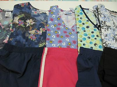 Womans Lot Of Scrub Sets, 5 Tops, 5 Pants, Very Nice    Size S  (Box66)