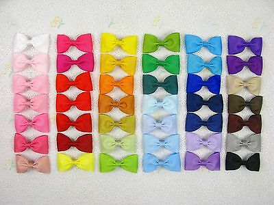 "42 Grosgrain girl 2.5"" boutique Hair Bow Baby-42 Colors with clips"