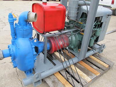 "Water Pump Gorman Ropp 4"" Centrifugl & 2-53 Detroit Diesel 2 Cylinder Engine"