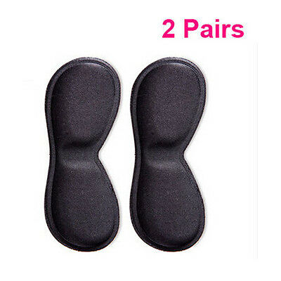 2 Pairs Extra Sticky Sponge Shoe Heel Inserts Insoles Pads Cushion Grips Strong