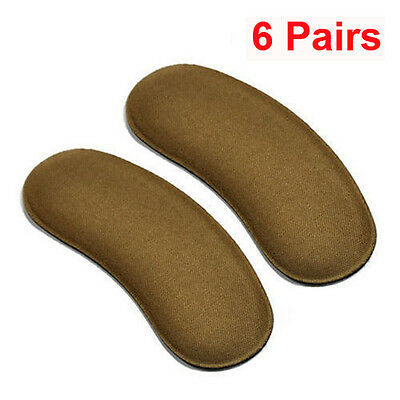 6 Pairs Extra Sticky Fabric Shoe Heel Inserts Insoles Pads Cushion Grips Strong