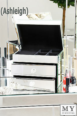 Mirrored Jewellery Jewelry box  bracelet ring necklace case gift small large