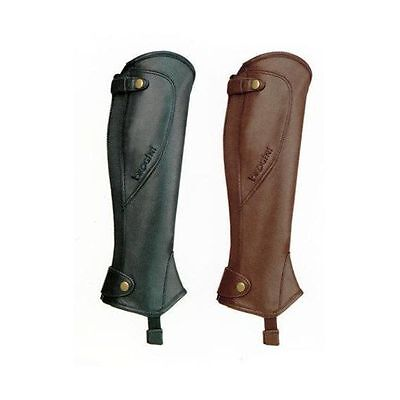 Brogini Milano Leather Gaiters - Horse Riding Chaps - Black or Brown
