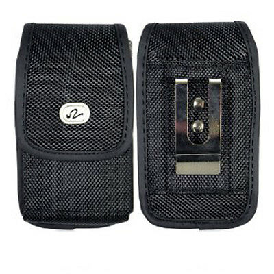 Vertical Heavy Duty Rugged Canvas Belt Clip Case for Cell Phones ALL CARRIERS