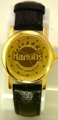 HARRAH'S OF NORTH KANSAS CITY COLLECTIBLE LADIES' WATCH IN GOLD TONE CASE