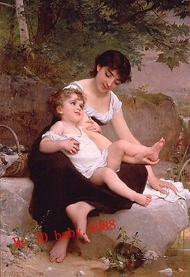Handicrafts art repro Oil Painting : Mother and Child 1892