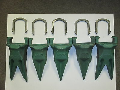 Esco Style 5 Pack 2-37TVIP Twins ,3-37VIP Tiger Teeth & 5 37LK Horseshoe Locks