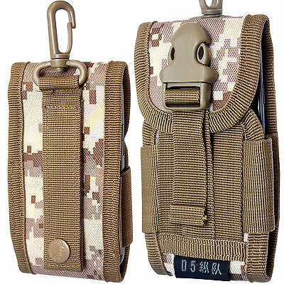 Universal Army Bag Digital Desert Camo Belt Loop Hook Cover Holster Pouch Case