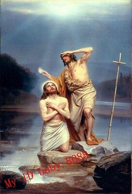 Handicrafts repro Oil Painting : The Baptism of Christ by Carl Heinrich Bloch