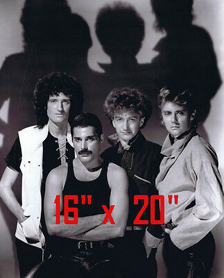 "Queen~Freddie Mercury~Brian May~Gay int~Poster~Photo~16"" x  20"""