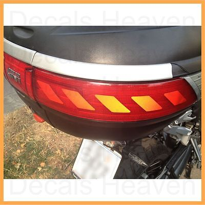 2pcs Red Reflective Chevron Top Box Pannier Back Decal Kit Set Safety Sticker M6