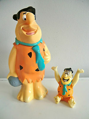 Rare Flintstones Bubble Bath Figure - Big Fred Bottle With Little Fred Figure