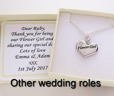Silver plated Wedding Necklace, Chain, Chief Bridesmaid,Flower girl,Mother,gift