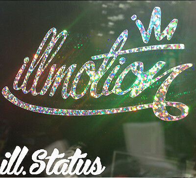 Illmotion Glitter Sticker ! Not Canibeat Wheel Whores Illest Type R JDM Euro DUB