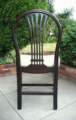 Davenport Hoop Back Chair #57405 1930's Hepplewhite Mahogany Antique Vintage !