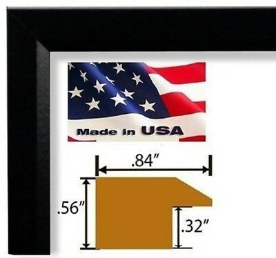 Black Real Poplar Wood Picture Frames Poster Frames Single or Lots of 2 or 4