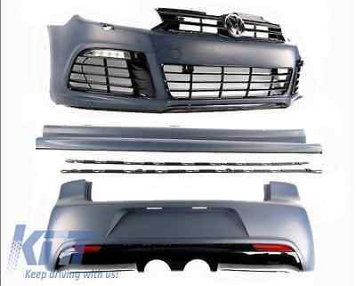 VW GOLF 6 VI R20 Look complete body kit side skirts front rear bumper ABS OE 08+