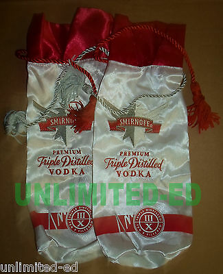 Smirnoff Vodka 750mL Gift Bags - SET of 2 - BRAND NEW - FREE USA SHIPPING