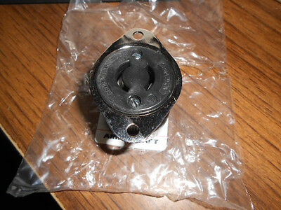 {10}  Leviton 8809-C, 2 Pole, 2 Wire Outlet Flanged, Nylon