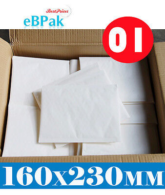 200 #01 - NEW BLANK - Bubble Envelope 160x230mm * SIZE 01 Padded Bag Mailer