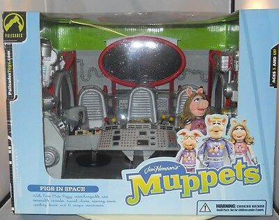 Muppet Miss Piggy Swinetrek trek Pigs in Space Series 6 Playset Palisades 2003