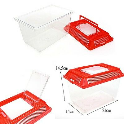 Multi Acrylic M Portable Small Animal Pet Insect Bug Fish Hamster Cage Box House