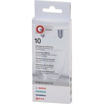 Bosch Cleaning Tablets for Coffee Machines and Thermoflasks (Pack of 10)