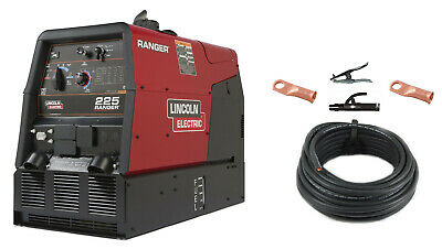Lincoln Ranger 225 Engine Welder Generator K2857-1 with Cable Package