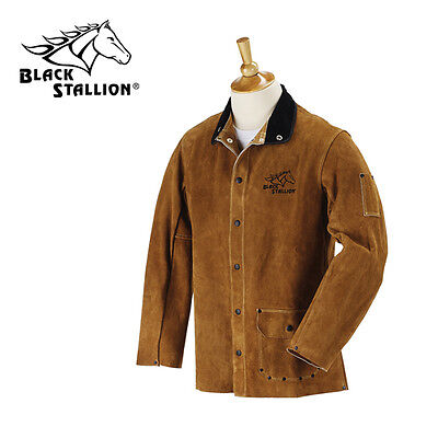 "Revco Black Stallion Split Cowhide 30"" Leather Welding Jacket Size Small"