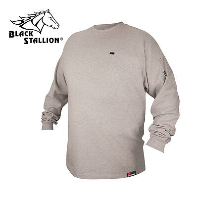 Revco Flame Resistant FR Cotton Long Sleeve Gray T-shirt Medium