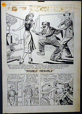 Great Lee Elias 4 Page Golden Age Story - Black Cat Meets Groucho?!