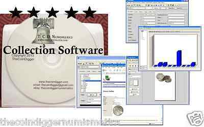 EASY 2 USE TheCoinDiggers Coin Collection Software Inventory + FREE PROOF COIN