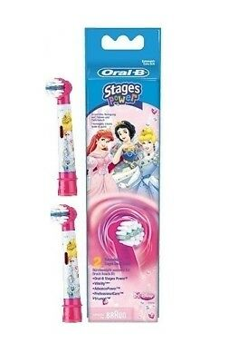 Braun Oral-B Stages Power Replacement Brush Heads Disney Princess - 2 Pack