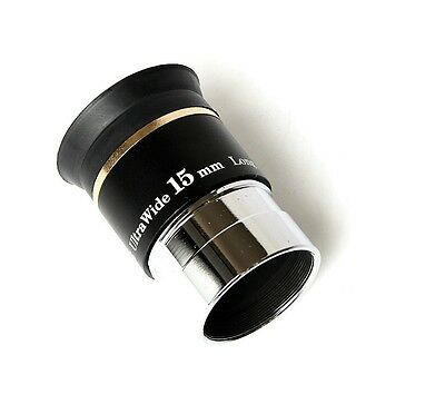 "New 1.25"" F15mm 66 Degree Wide Angle Eyepiece for Telescope"