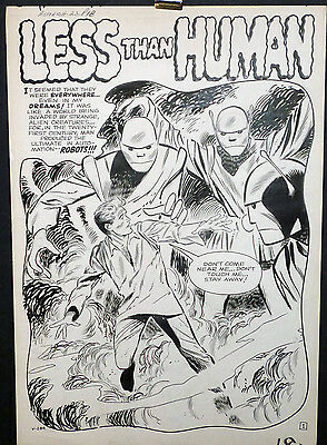 Fantastic 5 Page Pre-Hero Story By Don Heck - Less Than Human - Large Art