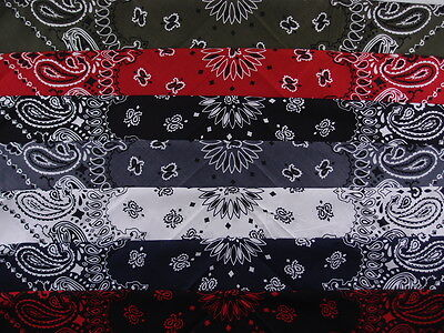 "Large Bandana  Paisley Trainmen Jumbo Oversized Extra Large 27"" Biker Head wrap"