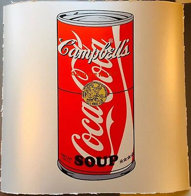 COCA COLA CAMPBELLS POP SOUP CAN MR CLEVER ART brainwash warhol banksy fairey