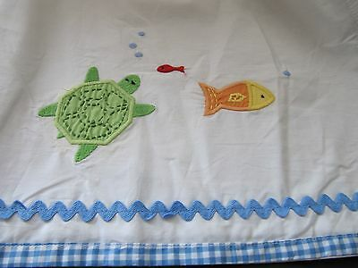 Pottery Barn Kids   Under The Sea   Crib Skirt   Fish, Crab, Octopus, Turtle