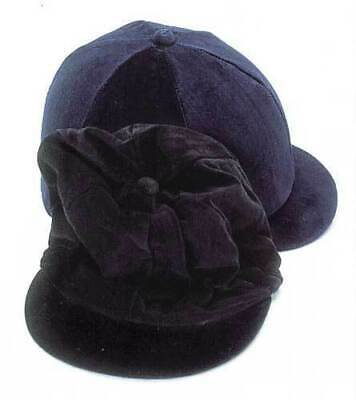 Hy/Capz Velvet Skull Cap Covers - Horse Riding Hat Covers - Standard & XLarge