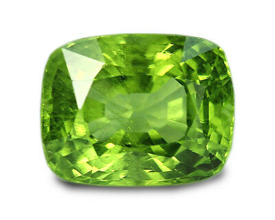 4.13 Carats Natural Peridot Loose Gemstone - Cushion