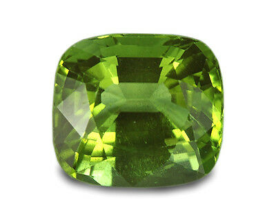 4.83 Carats Natural Peridot Loose Gemstone - Cushion
