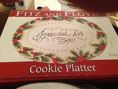NEW FITZ AND FLOYD Baked With Love Holiday Cookie Platter NIB