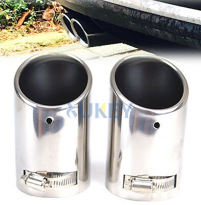 Chrome Exhaust Tailpipe Tail Pipe Tip Muffler End Trim For Vw Passat B6 Cc Eos
