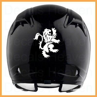 GB LION MOTORCYCLE HELMET REFLECTIVE BLACK OR WHITE DECAL STICKER M#1 3 1/2 x 4""