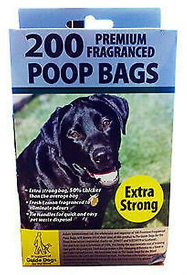1000 X DOGGY BAGS - Scented Pet STRONG Bag Dog Cat Poo Waste Toilet Poop