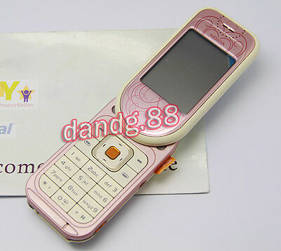 Original NOKIA 7370 Mobile Cell Phone GSM Triband Swivel Refurbished Pink + Gift