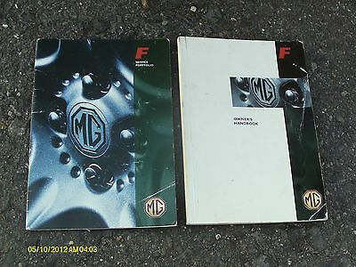 Mg Mgf Mk1 All Models 1995 - 2002 Owners Manual And Service Portfolio Booklet