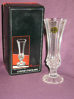 Cristal d Arques Bonneval Crystal Vase with Original Box
