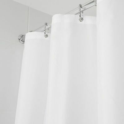 Croydex Thick Strong Machine Washable Shower Curtain White Cream Choice Colours
